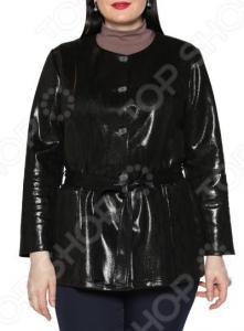 Жакет Laura Amatti «Нежный питон». Цвет: черный