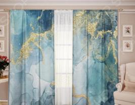Комплект штор ТамиТекс «Белый Муар 12»