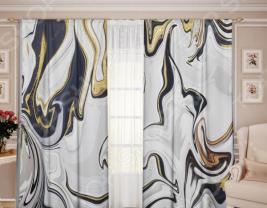 Комплект штор ТамиТекс «Белый Муар 07»