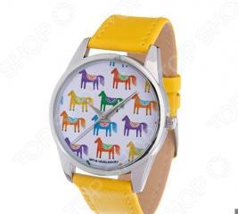 Часы наручные Mitya Veselkov «Цветные лошадки» Gold