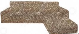 Натяжной чехол на угловой диван с выступом справа Еврочехол «Виста. Инка»
