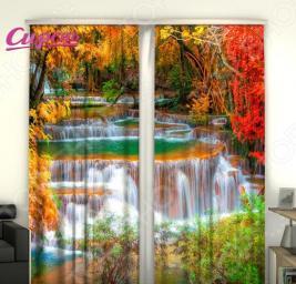Фотошторы Сирень «Осенний водопад»