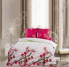 Комплект постельного белья Романтика Венецианский парк. Евро