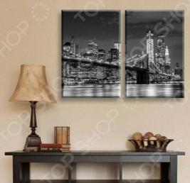 Картина 2-модульная ТамиТекс «Бруклинский мост»