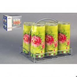 Набор стаканов с подставкой Коралл «Оттава»