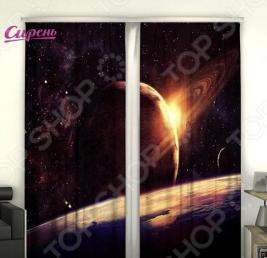Фотошторы Сирень «Космическая планета»