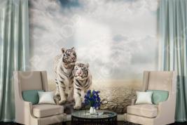 Фотообои ТамиТекс «Белые тигры». Количество полотен: 3 шт