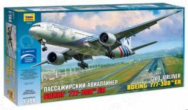 Сборная модель гражданского самолета Звезда «Боинг 777»