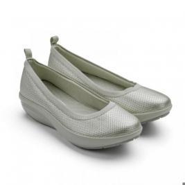 Балетки элегантные Walkmaxx Comfort 2.0. Цвет: серебряный
