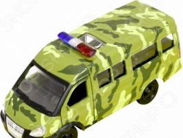 Машинка инерционная PlaySmart «Газ-3221. Армейская». Масштаб: 1:50
