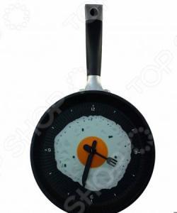 Часы настенные «Яичница на сковороде»
