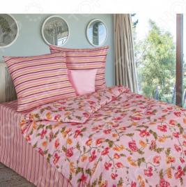 Комплект постельного белья «Магия Вечера». 1,5-спальный. Рисунок: «Розы кантри»