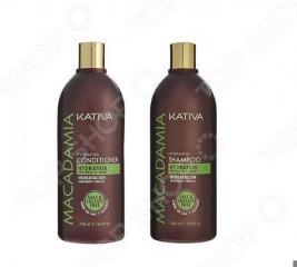 Набор для поврежденных волос: шампунь и кондиционер Kativa 65803072 Macadamia