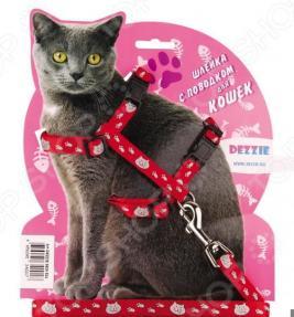 Набор для крупных кошек: шлейка и поводок DEZZIE «Тедди»