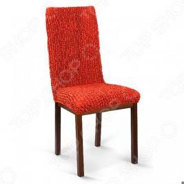 Натяжной чехол на стул Еврочехол «Микрофибра. Терракотовый»