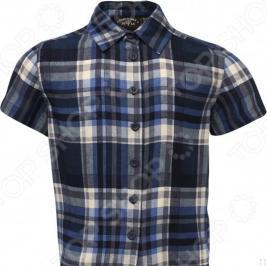 Рубашка с коротким рукавом Finn Flare Kids KS16-81003. Цвет: темно-синий