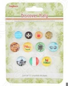 Камушки со стикером ScrapBerry's «Итальянские каникулы»