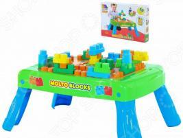 Столик с конструктором POLESIE Molto Blocks. Количество элементов: 20