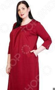 Платье Лауме-Лайн «Счастливый взгляд». Цвет: бордовый