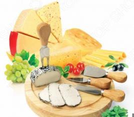 Набор для резки сыра из 4-х приборов и деревянной доски Bradex Рокфор