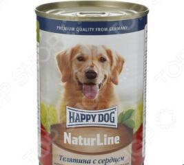 Корм консервированный для собак Happy Dog NaturLine с телятиной и сердцем