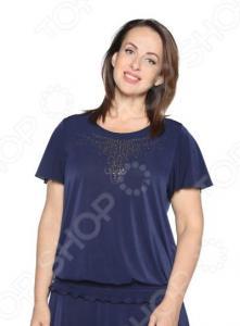 Блуза «Ослепительная». Цвет: темно-синий