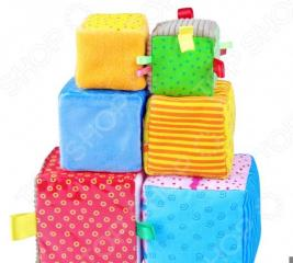 Кубики обучающие мягкие Мякиши «Умные кубики»