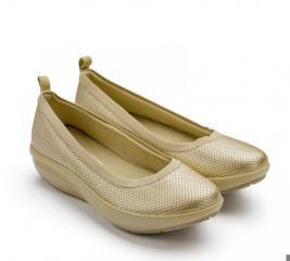 Балетки элегантные Walkmaxx Comfort 2.0. Цвет: золотой
