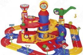 Набор игровой для мальчика Wader «Паркинг 3-уровневый с дорогой и автомобилями»