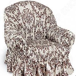 Натяжной чехол на кресло Еврочехол «Фантазия. Венеция»