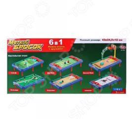 Игра настольная 6 в 1 Shantou Gepai «Меткий бросок»