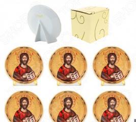 Набор круглых декоративных тарелок Elan Gallery «Иисус Христос»