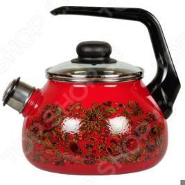 Чайник эмалированный со свистком Vitross Imperio
