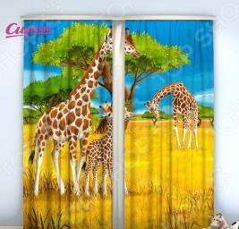 Фотошторы Сирень «Жирафы»