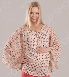 Блузка для беременных Nuova Vita 1345.2. Цвет: бежевый