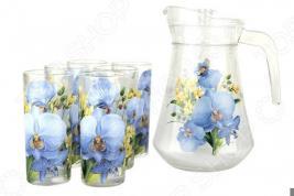 Набор: кувшин и 6 стаканов Коралл «Ловина»