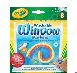 Набор маркеров для стекол Crayola «Washable Window markers»
