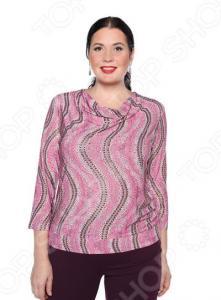 Блуза «Любовные истории». Цвет: брусничный