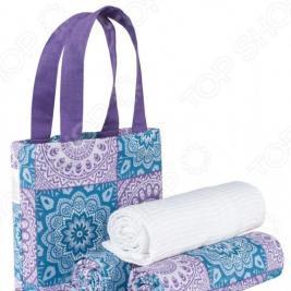 Набор полотенец «Лазурит» в сумке. Количество предметов: 3