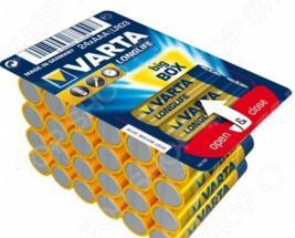 Комплект батареек VARTA Longlife AAA. Количество предметов: 24 шт