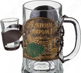 Набор: пивная кружка и рюмка «Баня» 352-035