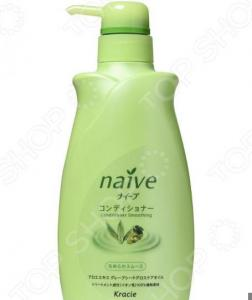 Бальзам-ополаскиватель для нормальных волос Kracie Naive с экстрактом алоэ в диспенсере