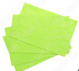 Набор салфеток на стол Elan Gallery «Листья на зеленом»