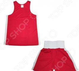 Комплект формы для бокса ATEMI. Цвет: красный, белый