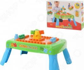 Столик с конструктором POLESIE Molto Blocks с элементами вращения
