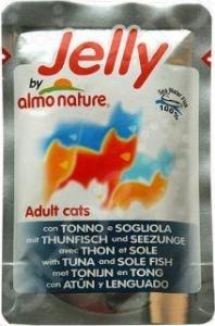 Корм влажный для кошек Almo Nature Adult с тунцом и камбалой в желе