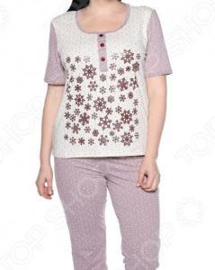 Пижама Алтекс «Счастливые дни». Цвет: лиловый