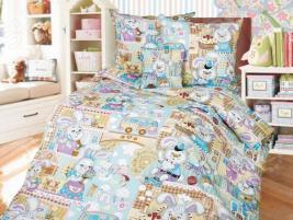 Детский комплект постельного белья Бамбино «Зайкин город»