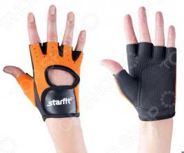 Перчатки для фитнеса Star Fit SU-107. Цвет: оранжевый, черный