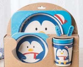 Набор посуды для детей «Пингвин»